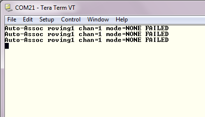 Tera Term unable to connect